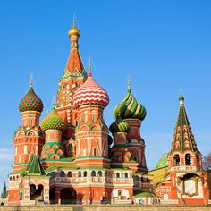 From Russia with love: Betoverend Moskou en Sint-Petersburg. Oh The Places You'll Go, Cool Places To Visit, Places To Travel, Saint Basile, Place Rouge, St Basils Cathedral, St Basil's, Top Place, Place Of Worship