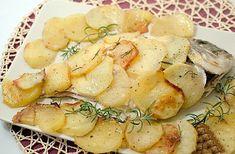 receta dorada al horno con patatas
