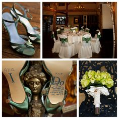 Blue And Green Wedding Details