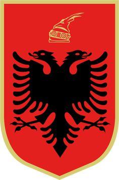 Albanian Flag, Albania Flag, Flag of Albania, Albania Flaga Wallpaper National Animal, National Flag, Naval, Bold Logo, Red Flag, Flags Of The World, Flag Design, Coat Of Arms, Badges