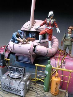 Char and his Zaku diorama.