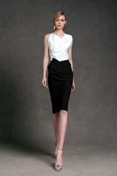 The cut, the draping, the neckline - they transform simple black and white into something gorgeous.