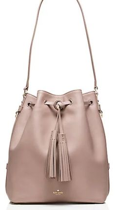 Tan Kate Spade bucket bag