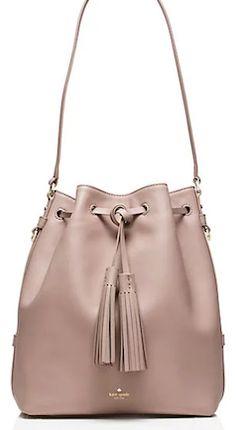 Tan Kate Spade bucket bag