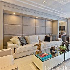 Living super aconchegante com sofa gigante by Carolina Bastos via @decoremesmo #somosconteudo_ #grupojsmais  DECOREDECOR | LIVING | CLEAN