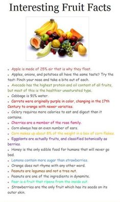 Interesting Food Facts ^_^