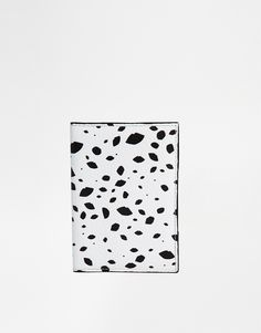 Image 1 ofLulu Guinness Passport Holder in All Over Speckle Print