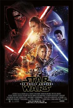 New films Star Wars: The Force Awakens (Harrison Ford, Mark Hamill, Carrie Fisher), Alvin and the Chipmunks: The Road Chip, Sisters, Bajirao Mastani, The Lady in the Car With Glasses and A Gun, Extraction, Noma My Perfect Storm, Son of Saul