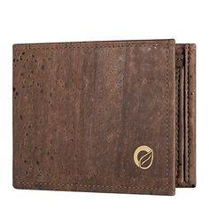 Vegan Wallet Men's, Passcase ID Window, Natural Cork Wallet by Corkor