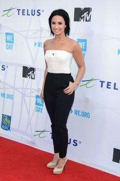 Demi Lovato attends We Day Toronto at the Air Canada Centre on Oct. 1, 2015, in Toronto, Canada.   - Cosmopolitan.com