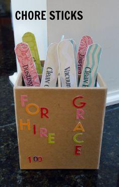 Easy Chore Sticks Tutorial
