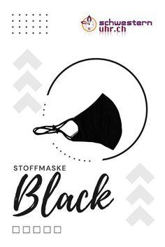 Maskenpflicht einhalten und die Umwelt entlasten mit unseren bunten Stoffmasken. Waschbar bis 60°. Ohrband in Länge verstellbar.  Jetzt bei schwesternuhr.ch bestellen! - Ohne Versandkosten. Schweizer Unternehmen.  #schwesternuhrch #schwesternuhr #maske #hygienemaske #stoffmaske #mundschutz Black, Blue Mask, Comfortable Work Shoes, Funny Hoodies, Protective Mask, Swiss Guard, Business, Black People