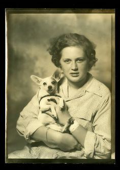 vintage dog pictures | Vintage PHOTO BOOTH Photograph 1940s GIRL & DOG