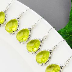 15 OFF SET OF 6 Wedding Jewelry  Apple Green by MyDistinctDesigns, $122.40