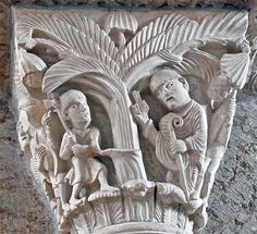 St. Martin and the pagan sacred tree. Narrative capitals in the Basilique Ste-Madeleine, Vézelay