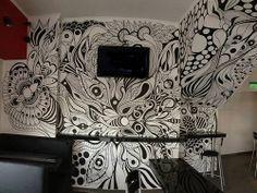 ©MarianoPadilla - Mural - Wall Painting - Uni Posca on 17m² wall -Pancheria Juanchos La Matanza