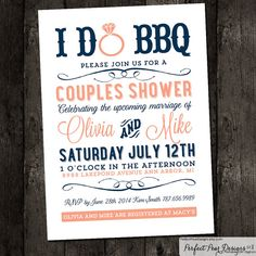 Couples Shower I do BBQ Barbecue Business by PerfectPearDesigns