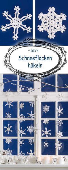 If you can not wait for the snow, the snowflakes crochet . Wer nicht auf den Schnee warten kann, der häkelt sich die Schneeflocken eben… If you can not wait for the snow, the snowflakes crochet … Christmas Scarf, Christmas Baby, Christmas Crafts, Crochet Christmas, Xmas, Afghan Crochet Patterns, Baby Knitting Patterns, Scarf Patterns, Crochet Snowflakes