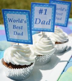 Father's Day Printable Cupcake Toppers I Love My Father, I Love My Hubby, Cupcake Cases, Cupcake Toppers, Diy Father's Day Gifts, Fathers Day Gifts, Fun Arts And Crafts, Crafts For Kids, Cake Pops
