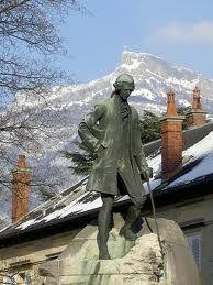 Chambéry : statue de Jean Jacques Rousseau