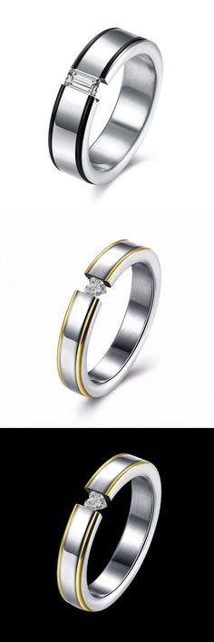 Rings Gym Heart Crystal Forever Love Finger Ring Women Men Jewelry Wedding Birthday Gift