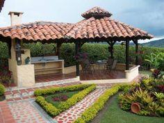 17 Amazing Outdoor Barbeque Design Ideas - Local Home US - Home Improvement Outdoor Garden Bar, Backyard Gazebo, Outdoor Garden Furniture, Patio Roof, Pergola Patio, Pergola Plans, Backyard Landscaping, Pergola Ideas, Pergola Kits