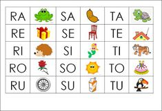 Maestra MariaPaola: Gioco delle sillabe Letter Sounds, Lettering, Activities, Education, Learning, Holiday Decor, School, Kids, Studio