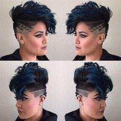 25 Most Powerful Ideas How to Make a Hairstyle with an Undercut - All For Little Girl Hair Fade Haircut, Pixie Haircut, Undercut Hairstyles, Cool Hairstyles, Hair Day, New Hair, Extreme Hair, Little Girl Hairstyles, Cool Hair Color