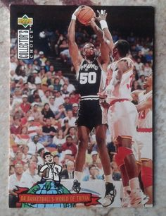1994 UD COLLECTOR'S CHOICE DAVID ROBINSON # 403 DR. BASKETBALL WORLD OF TRIVIAL  #SanAntonioSpurs