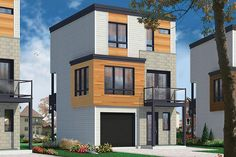 Too many materials, but looks warmer and modern. Modern 3 Story House Plans Inspirational Contemporary 3 Floor House Design for Narrow Lot Modern Floor Plans, Modern House Plans, Small House Plans, Contemporary Style Homes, Contemporary House Plans, Contemporary Design, Modern Homes, Three Story House, Narrow House Designs
