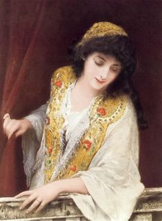 Samuel Fildes, Jessica, Heroines of Shakespeare in Paintings, oil painting, Heroines of Shakespeare in Paintings, 19th century, book illustration, fun facts, illustration, story behind painting