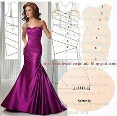 Moldes Moda por Medida: TRANSFORMAÇÃO DE VESTIDOS designer dresses, pattern classic, design dress, por medida