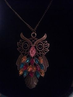 Beautiful Vintage Style Owl Necklace With by SecondHandGoddess, $7.00