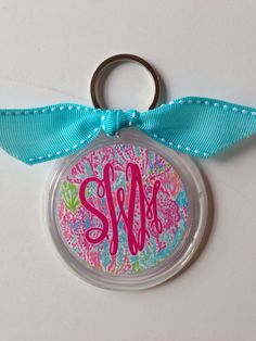 Lilly Pulitzer Monogram Key Chain by SouthernIdeology on Etsy https://www.etsy.com/listing/168375980/lilly-pulitzer-monogram-key-chain