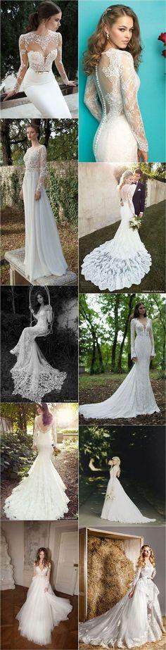 30 Chic Long Sleeve Wedding Dresses   http://www.deerpearlflowers.com/long-sleeve-wedding-dresses/