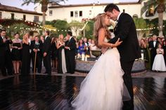style me pretty - real wedding - usa - california - santa susana wedding - hummingbird nest - bride & groom - first dance