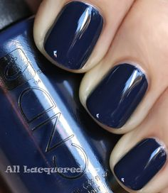 "CND ~ Midnight Sapphire ~ ""Look"" Fall 2011 (One Coat) 'a densely pigmented creme' by alllacqueredup #bluenails #nailsphotography #bluenailpolish"