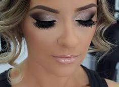 Image result for makeup that matches navy dress