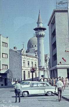 Constanta, main port of Romania, 1967 Constanta Romania, Ship Paintings, Grand Mosque, Islamic Architecture, Black Sea, Best Funny Pictures, Vintage Posters, Places To Travel, Taj Mahal