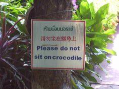 Important advice, dear children.