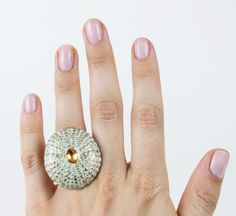 This ring is downright GORGEOUS. $102, www.mooreaseal.com