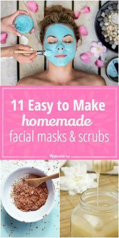 11 Easy to Make #Facial #Masks and #Scrubs