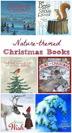 Kids Christmas books with nature themes -- these stories have GORGEOUS pictures!  Great for holiday story sessions.