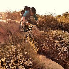 Bike magazine's assistant photo editor riding a roller in Laguna Beach, California