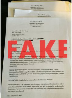 Fake Clinton Medical Records! THIS is how Low and Dirty Trump and his band of Low Life Supporters will go. It's bad enough to take someone's medical records and put them online but it's it's even worse to Alter and Forge them saying a person has all sorts of ailments. Trump is beyond Sickening!