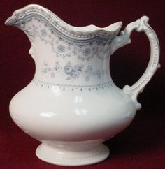 JOHNSON BROTHERS china DOROTHY blue transferware 48 oz. WATER PITCHER.