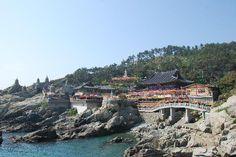 Haedong Yonggunsa, Busan.  Looks too beautiful to miss. A temple on the coast.