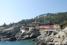 Haedong Yonggunsa, Busan.  Looks too beautiful to miss. A temple on the coast.
