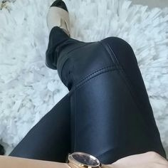"""Ted baker leather pants! Like new condition! The most amazing leather pants by Ted baker. Crazy soft leather panels with zippered details. The left side of the hip zippers down to help the pants slide on.   Lined with a smooth silky material that makes these the most comfortable pants you will ever own. The ankles also have zippers which I love! Size 1 which is a size small. 14"""" on the waist and 28 1/2"""" inseam Ted Baker Pants"""