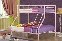 Nexus Metal Triple Sleeper Bunk Bed in Pink